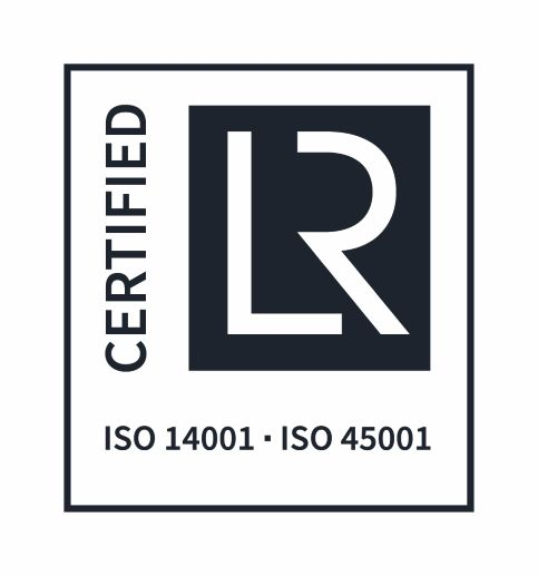 ISO certified logo 14001 and 45001