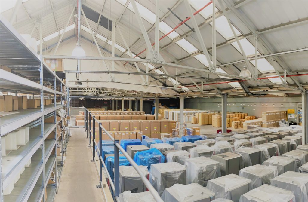 Warehousing solutions with equipment storage ready to go