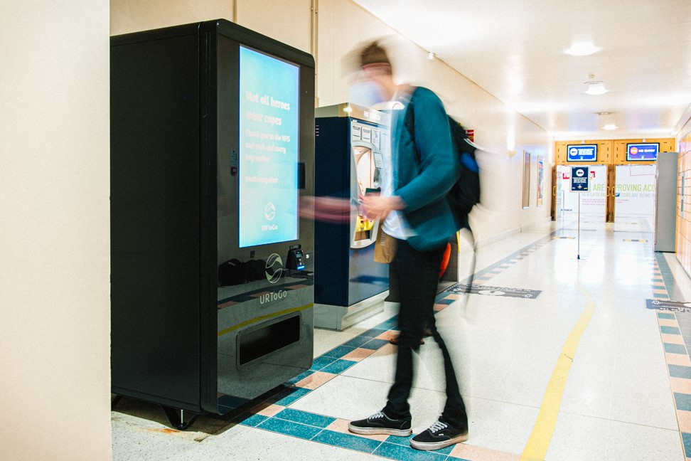 Using iVend Hygiene Station at Woking Shopping